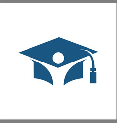 student logo graduation logo vector image