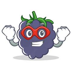 Super hero blackberry character cartoon style vector