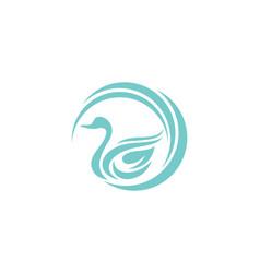 swan logo template vector image