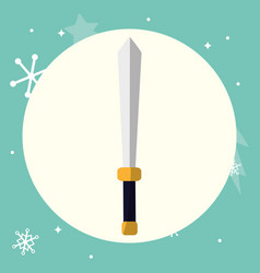 sword icon image vector image