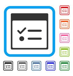 Todo items calendar page framed icon vector