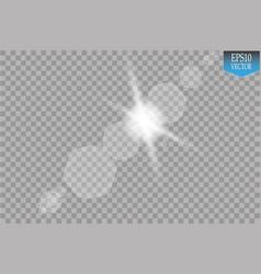 Transparent sunlight special lens flare vector