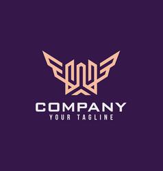 universal linear logo design luxury letter w vector image