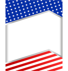 Usa flag corner frame background banner vector