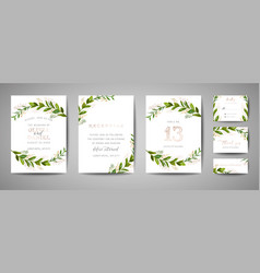 wedding save the date invitation floral cards vector image