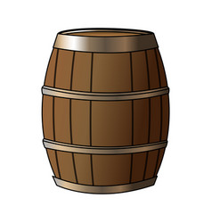 wooden barrel icon image vector image