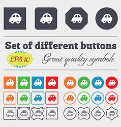 Auto icon sign Big set of colorful diverse vector image