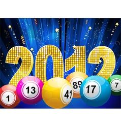 bingo or lottery balls vector image