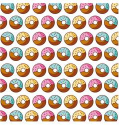 donut bakery kitchen seamless pattern vector image