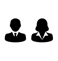 people icon male and female signs person avatar vector image