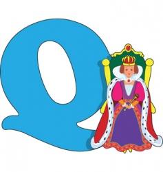 Q is for queen vector image vector image