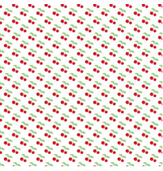 seamless pattern with berry cherry endless vector image