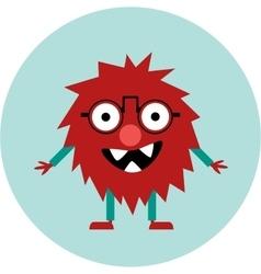 Freaky cute retro hipster alien monster vector image vector image