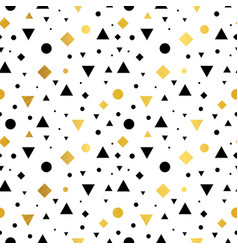 gold black and white vintage geometric vector image