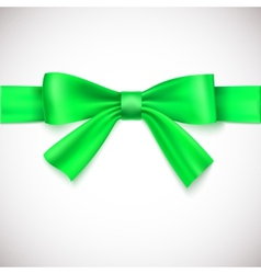 Green ribbon with bow vector image