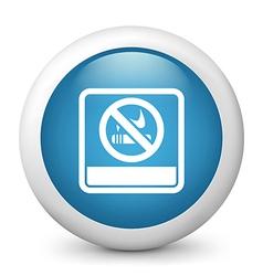 no smoking glossy icon vector image