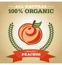 Organic Peach vector image vector image