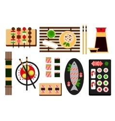 Restaurant asian cuisine flat icon vector image