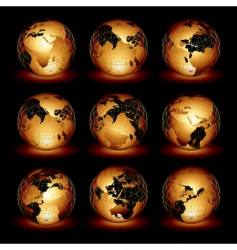 world set vector image vector image