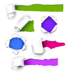colour paper vector image