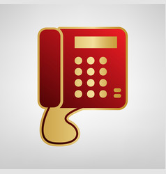 communication or phone sign red icon on vector image vector image