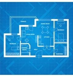 plan blue print Flat Design vector image
