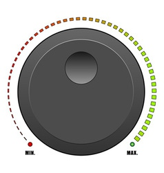volume dial vector image