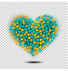 Butterflies heart isolated vector