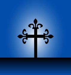 Cross with light vector image vector image