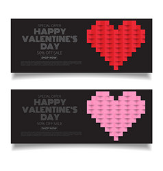 design template heart for valentines day vector image vector image