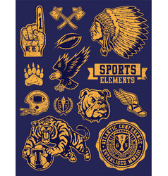Sports Mascots and Logo Set vector image