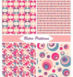 Vintage Retro Patterns vector image