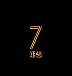 7 year anniversary celebration template design vector image