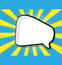 Abstract blank speech bubble comic book vector