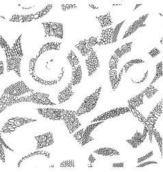 abstract ornamental spiral seamless outline vector image