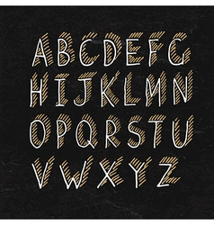 alphabet on blackboard texture vector image