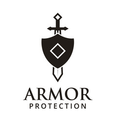 armor protection logo design inspiration vector image