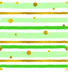 background with green and golden strips vector image