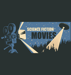 banner for science fiction movies festival vector image
