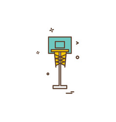 basket ball icon design vector image