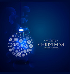 beautiful blue background with christmas festival vector image