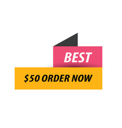 Best labels pink yellow black vector