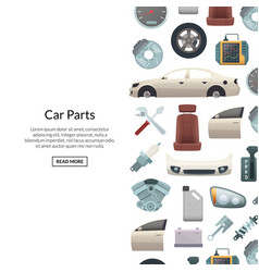 car parts background with text vector image