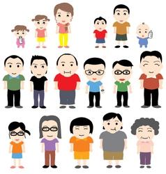 China family vector
