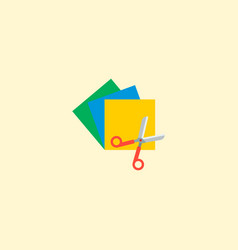 colorful papers icon flat element vector image