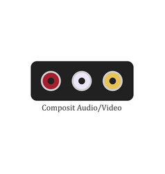 composit audio video vector image