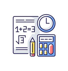 Computational exam rgb color icon vector