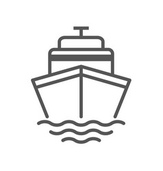 Cruise icon ship transportation symbol vector