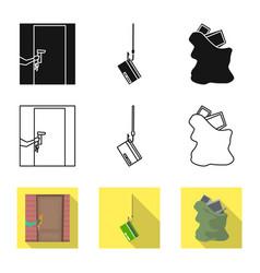 Design crime and steal logo set of vector