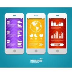 elements of UI User interface vector image